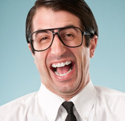 lachende werknemer