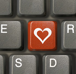 toetsenbord hartje liefde