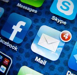 Mail op smartphone
