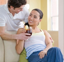 man vrouw drankje