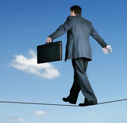 ondernemer evenwicht