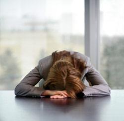 ongelukkig op het werk