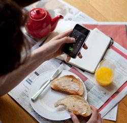 smartphone ontbijt