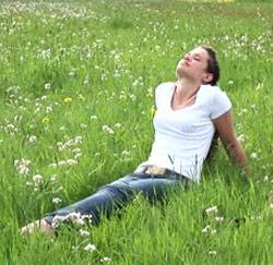 Ontspannen op het gras