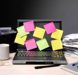 post-it's laptop