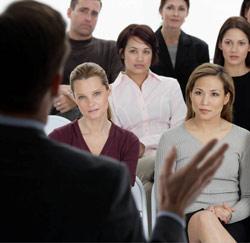 presentatie geven publiek