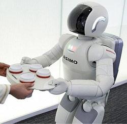robot brengt koffie