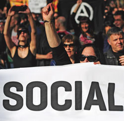 1 mei-betoging Madrid