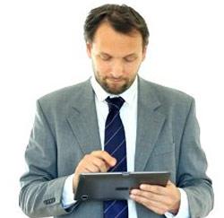 tablet businessman