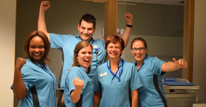 Het enthousiaste team van Ter Burg