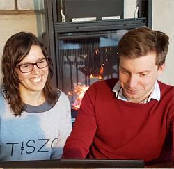 Jorik Van den Bosch en Eva Verbeke van Thingit