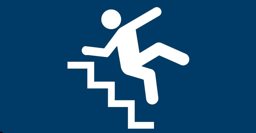 van trap vallen