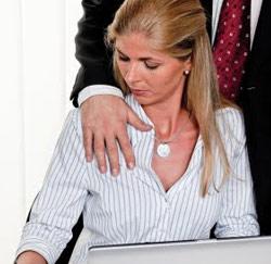 vrouwelijke baas slachtoffer seksuele intimidatie