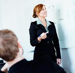 vrouw presentatie