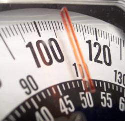 weegschaal overgewicht