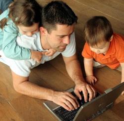 vader laptop kinderen