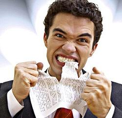 woedend papier opeten