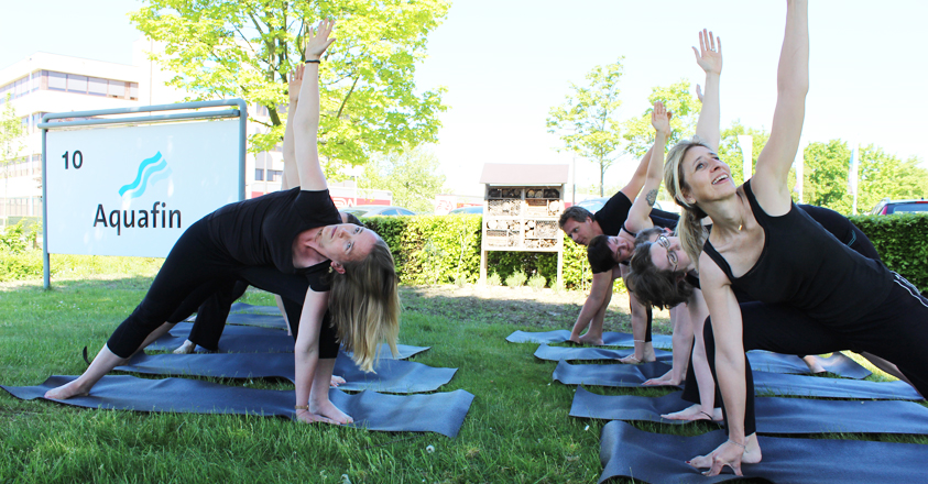 Yoga bij Aquafin