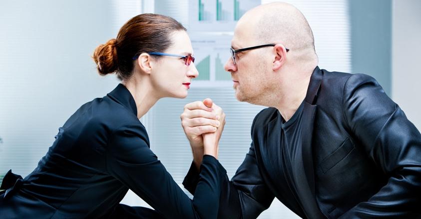 zakenvrouw vs. zakenman