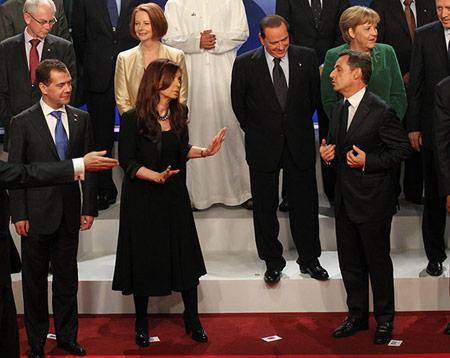 Kirchner vs. Medvedev op de G20-top