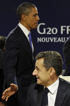 Sarkozy vs. Obama op de G20-top