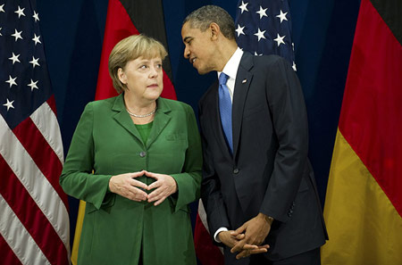 Obama vs. Merkel op de G20-top