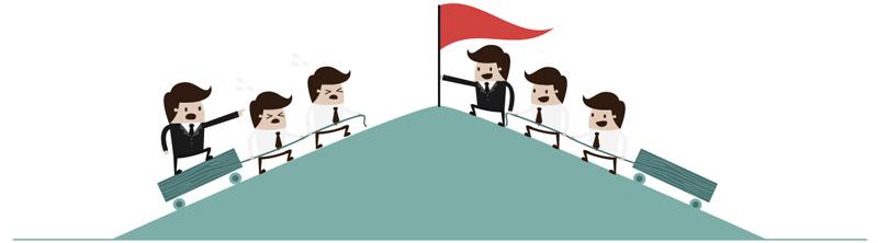 Een baas vs. een leider