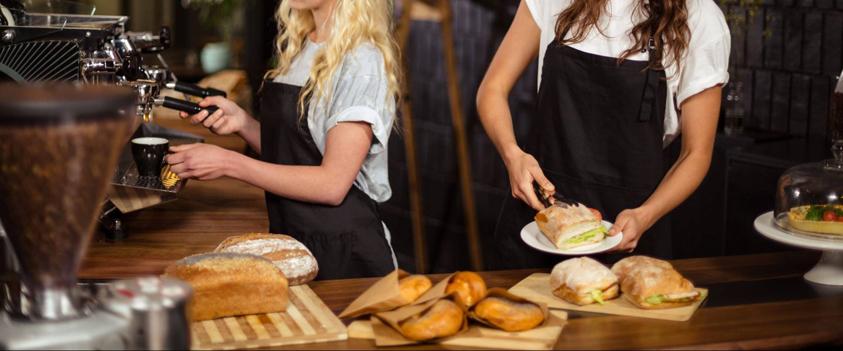 Werken in een broodjeszaak