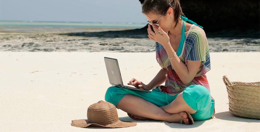 Werken tijdens vakantie