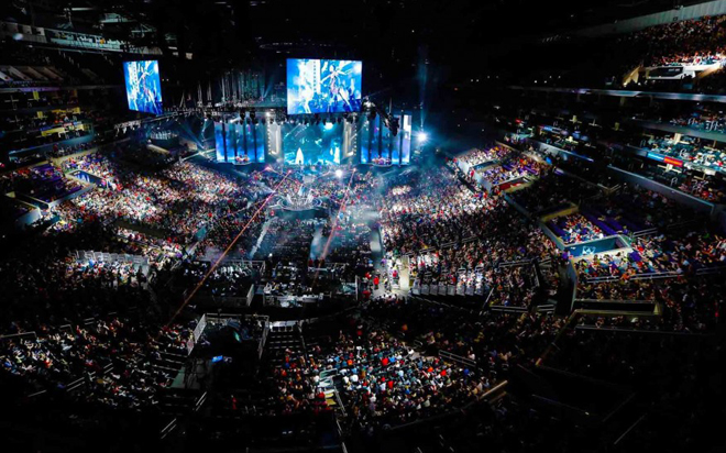 League of Legends tournament arena