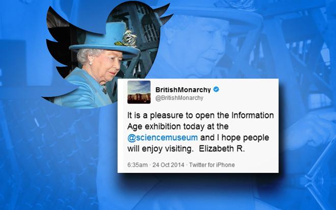 Eerste tweet Queen Elizabeth II