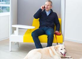 Steve Axe en hond Masha