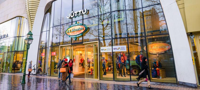 De gedeelde Juttu & A.S.Adventure Store in Brussel