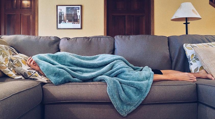 Slapen in de zetel
