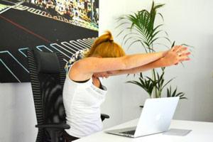 Stretching bovenrug