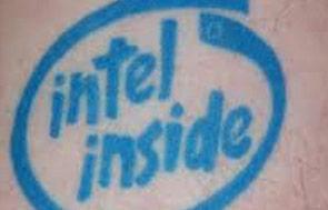 Intel Inside tattoo