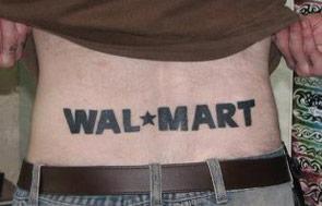 Wal-Mart tattoo