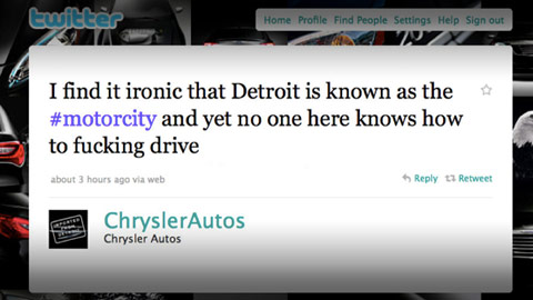 Chrysler tweet Detroit