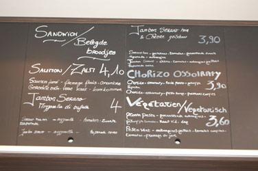 Lunchen bij boulangerie Charli in Brussel