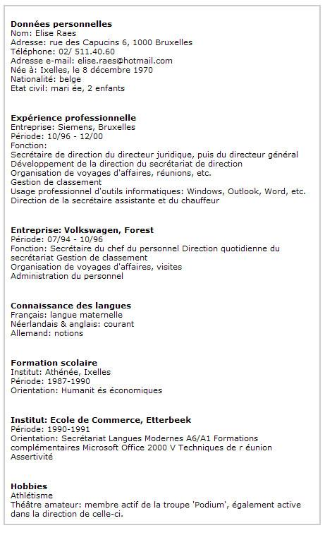 CV semi fonctionnel