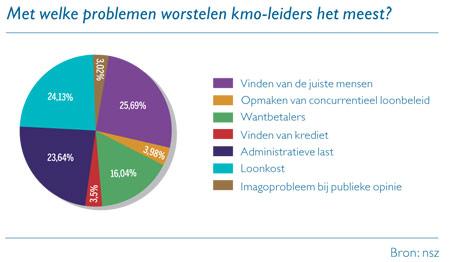 Grafiek: Met welke problemen worstelen kmo-leiders het meest?