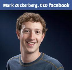 Mark Zuckerberg, de CEO van Facebook