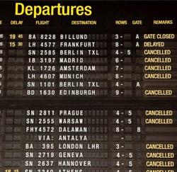 departures cancelled