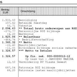 meest bekeken cijfer op de hele loonbrief is natuurlijk het 'netto ...: www.jobat.be/nl/artikels/wat-staat-er-allemaal-op-mijn-loonfiche