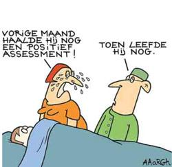 Assessment cartoon Aaargh