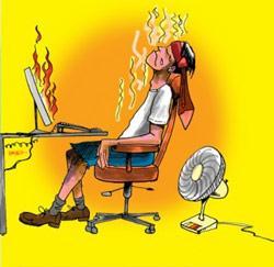 chaud au bureau
