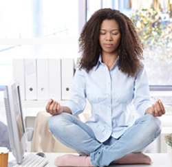 How can you do meditation while working? 6