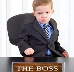 de baas zijn
