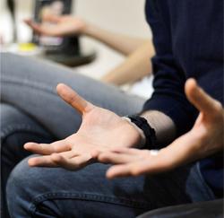 lichaamstaal handen