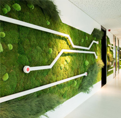 De living wall van Hitachi Data Systems
